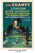 RARE POSTER thick LONDON AFTER MIDNIGHT movie 1927 lon chaney HAMMER REPRINT #'d/100!! 12x18