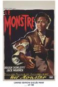 RARE POSTER thick THE QUARTERMASS EXPERIMENT (Le Monstre) movie 1955 cult HAMMER REPRINT #'d/100!! 12x18