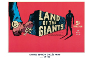 RARE POSTER thick LAND OF THE GIANTS movie 1968 topps BOX REPRINT #'d/100!! 12x18