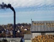 1940 Starch Factory, Caribou, Maine Vintage Photograph 22cm x 28cm