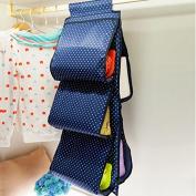 Lecent@ 5 Pockets Homewares Hanging Handbag Storage Organiser Bag Pouches Large Clear Purse Hanging Organiser Closet