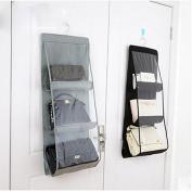 Lecent@ 6 Pockets Homewares Hanging Handbag Storage Organiser Bag Pouches Large Clear Purse Hanging Organiser Closet