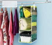 Lecent@ Homewares 3-shelf Organiser Hanging Handbag Organiser Hanging Purse Organiser Purse Racks Closet Storage & Organisers System