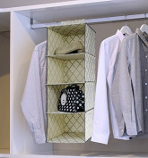 Lecent@ Homewares 4-shelf Organiser Hanging Handbag Organiser Hanging Purse Organiser Purse Racks Closet Storage & Organisers System