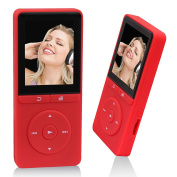 Peficecy Music Player, 80 Hours Playback 8GB Hi-Fi Sound MP3 Player, With FM Radio and Voice Recorder Function, Support Expandable up to 32 GB