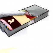 Trenton Durable Portable Zipped Clothes Pillow Under Bed Handle Storage Organiser Bag -Grey