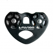 Fusion Climb Tesa Military Tactical Edition Speed Aluminium Alloy Zip Line Trolley Pulley Black 24kN