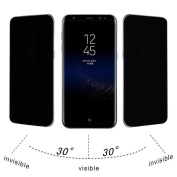 For for Samsung Galaxy S8,Tiean Privacy Full Screen Protector Anti-Spy Tempered Glass