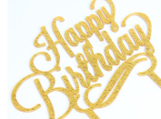 Happy Birthday Gold Glitter Acrylic Cake Topper Birthday Party Decoration Supplies