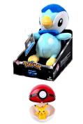 Pokemon Plush Piplup 20cm Trainer's Choice - Plus Pokeball and Pokemon Figure