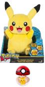Pokemon Plush My Friend Pikachu 27cm - Plus Pokeball and Pikachu Pokemon Figure