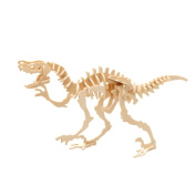 Rely2016 3D Dinosaur Wooden Puzzle Robot Toy, Wood DIY Craft Dinosaur Deinonychus Puzzle Toy Kit Perfect Educational Gifts for Boys and Girls