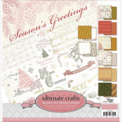 Ultimate Crafts - Season's Greetings - 24 DS-Sheets 12 X 12 Paper Pad Christmas