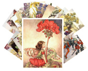 Postcard Pack 24pcs Flower Fairy by Cecile Barker Vintage Illustrations