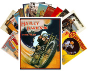Postcard Pack 24pcs Harley Davidson Vintage Ads Posters Terror Bike Adverts
