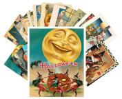 Postcard Pack 24pcs Halloween Pinup Witch Vintage Greeting Cards Reprint