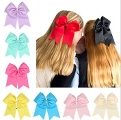 PETMALL 9pcs Baby Girls Ribbon Boutique Hair Rope Mixed Colour E018