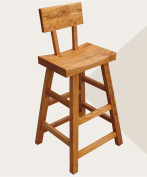 Solid Wood Chair Cafe Bar Elm High Stool Step Stools
