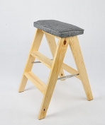 Solid Wood Folding Stool Simple Modern Folding Ladder Kitchen Portable Stool Household Chairs
