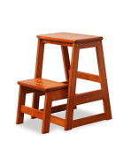 Solid Wood Staircase Stool Library Ladder Chair Household Ladder Folding Stool