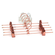 """Koobay 10PS/LOT 14"""" Shiny Metal Rose Copper Gold Clips Pants Hangers Trousers / Skirt Hang rack with Swivel Hook"""