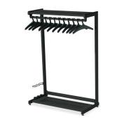 Quartet Quartet Two Shelf Garment Rack, Free Stand,12 Hangers,120cm . Wide,Black