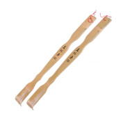 Rely2016 Pack of 2 Extra Long Bamboo Back Scratchers 46cm Backscratcher, Great Parents Gift