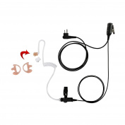 Maxtop ASK2425HAMP-H1 1-Wire Clear Coil Surveillance Kit Earphone for Hytera with Earmold