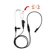 BOMMEOW BCT22HAMP-M5 2-Wire Clear Coil Surveillance Kit Earphone for Motorola with Earmold