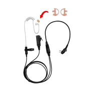 BOMMEOW BCT22HAMP-H4 2-Wire Clear Coil Surveillance Kit Earphone for Hytera with Earmold