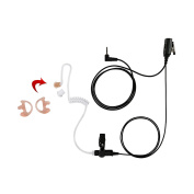 Maxtop ASK2425HAMP-M2 1-Wire Clear Coil Surveillance Kit Earphone for Motorola with Earmold