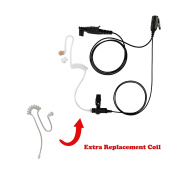 Maxtop ASK2425RT-M3 1-Wire Clear Coil Surveillance Kit Earphone for Motorola with Extra Replacement Coil