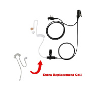 Maxtop ASK2425RT-I2 1-Wire Clear Coil Surveillance Kit Earphone for ICOM with Extra Replacement Coil