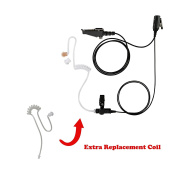 Maxtop ASK2425RT-K3 1-Wire Clear Coil Surveillance Kit Earphone for Kenwood with Extra Replacement Coil