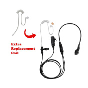 BOMMEOW BCT22RT-H5 2-Wire Clear Coil Surveillance Kit Earphone for Hytera with Extra Replacement Coil