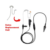 BOMMEOW BCT22RT-K3 2-Wire Clear Coil Surveillance Kit Earphone for Kenwood with Extra Replacement Coil