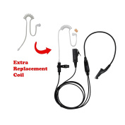 BOMMEOW BCT22RT-M9 2-Wire Clear Coil Surveillance Kit Earphone for Motorola with Extra Replacement Coil