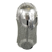 Viking Ocular Helm w/ Chainmail Camail 16 Gauge Steel Metallic One Size