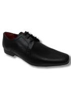 Red Tape Black Barwick Boys Leather Shoes UK 1 - 6
