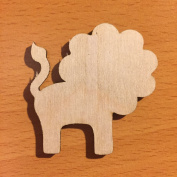Lion Laser Cut Wood || Unfinished DIY Projects || Unpainted Wood Shape Craft || WS64