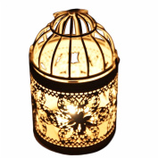 iTemer Metal Candle Holder Birdcage Candlestick Table Creative Decoration
