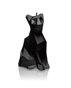 Candellana Candles 5902815460855 Cat Candellana- Cat Poly Candle-Black Glossy,Black High Glossy,Large
