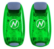 Apace Vision LED Safety Light (2 Pack) with Bonus Items – Clip On Strobe / Running Lights for Runners, Dogs, Bikes, Walking and More
