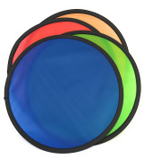 Foldable Flying Disc Assortment (1 dozen) - 24cm Folding Frisbees in Four Exciting Colours
