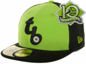 Tampa Bay Rays Fitted Size 7 3/8 Cooperstown Collection 10 Years Patch Lime Green & Black Hat Cap - Gold Sticker Attached