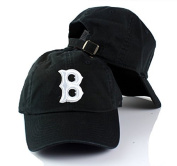 Boston Red Sox MLB Ballpark Slouch Contrast Logo Cotton Twill Adjustable Cap Black