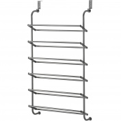 Whitmor 18-Pair Over The Door Shoe Storage Rack, Gunmetal