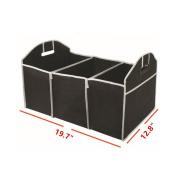 Hever Foldable Multi Compartment Car Truck Van SUV Storage Basket Trunk Organiser