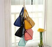Hever Hanging Handbag Closet Organiser Purse Storage 6 Hook Door Collection Hanger Hat Bag Strap Belt Clothes Rack Organiser Buckle