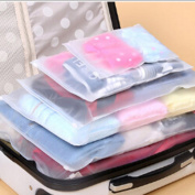 Liangxiang 15 PCS Waterproof Translucent Travel Pouch Ziplock Packing Bags